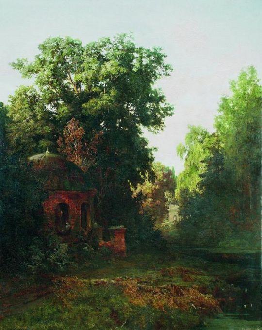 В старом парке. 1880-е Холст, масло. 141 x 113  ЧС