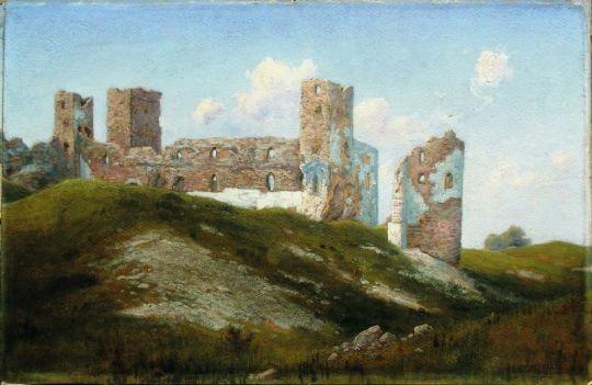 Развалины. Старая крепость. (Замок Везенберг, ныне Раквере). 1890-е Картон, масло. 35.8 x 54 ЧС