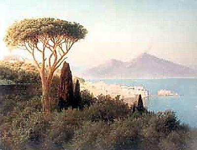 Итальянский пейзаж с видом на Везувий. 1898 2
