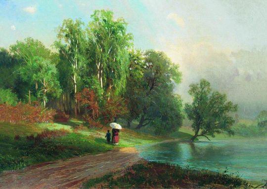 Лето. Речка в Красном Селе. 1870