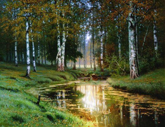 Золотая осень. Тихая речка