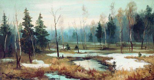 В конце зимы. 1890