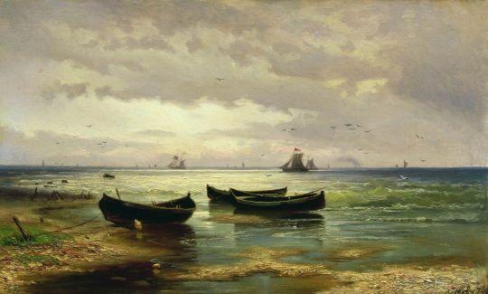 Взморье. Рыбацкие лодки. 1874