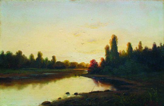 Закат на реке. 1900-е