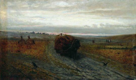 Во время сенокоса. 1889