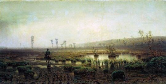 Пейзаж. Болото. 1880-е