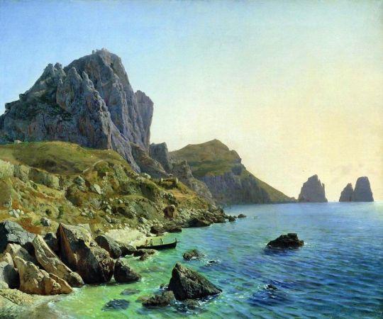 На острове Капри. Береговые утесы. 1859