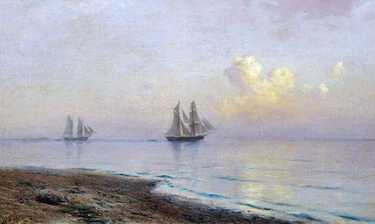 Морской пейзаж с парусниками. 1891