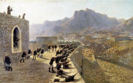 Отбитие штурма крепости Баязет 8 июня 1877 года. 1891