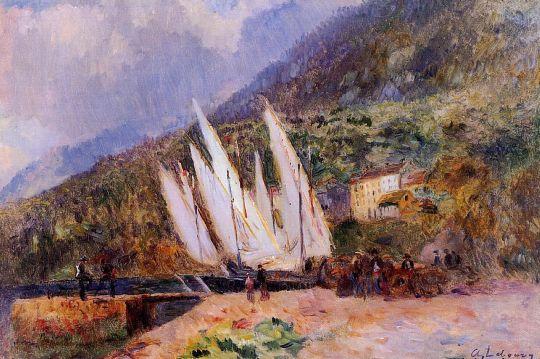 Лодки у причала в Сен-Жингольф