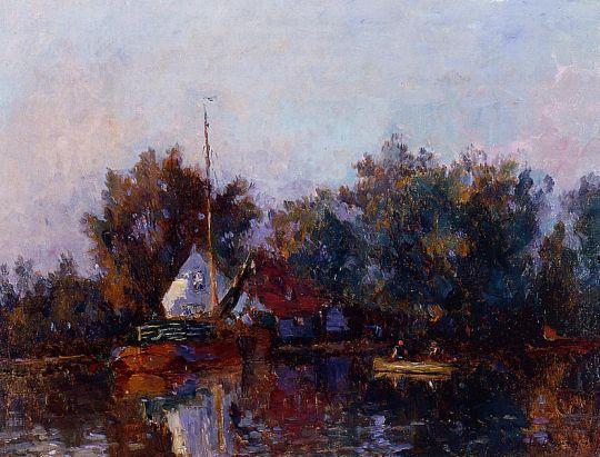 Канал в Голландии недалеко от Роттердама