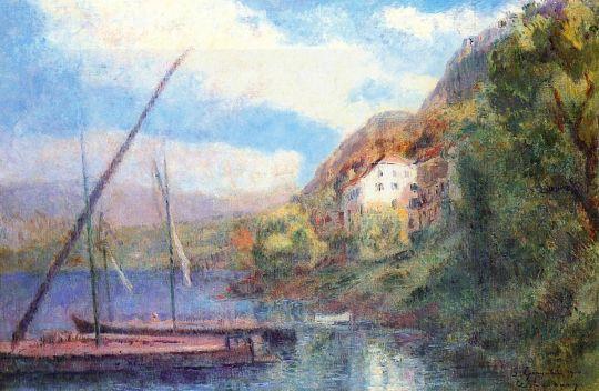Берегу Женевского озера в Сен-Жингольф