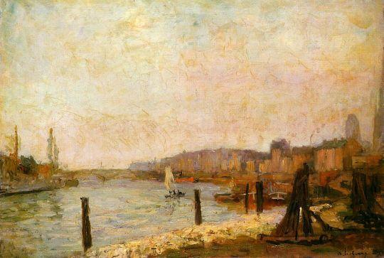 Вид на Руан зимой 1894 года