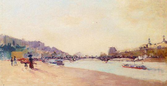 Париж, Сена и мост Сен-Переса с Лувром