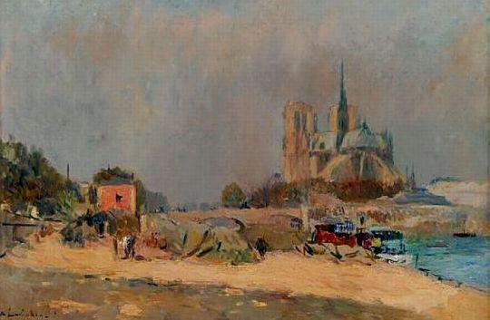 Вид на Нотр-Дам, 1909