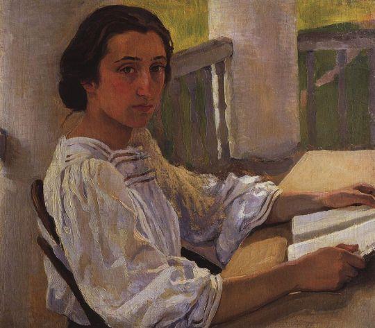 Портрет М.Е.Солнцевой, сестры художницы.