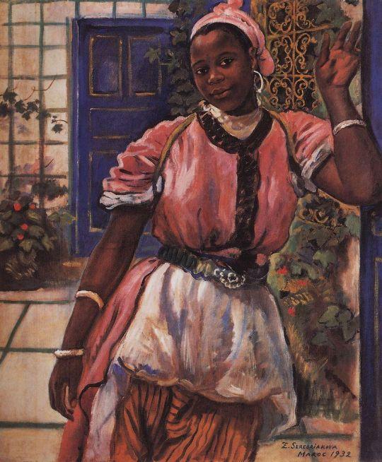 Марокканка в розовом платье.