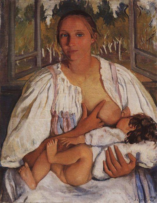 Кормилица с ребенком.