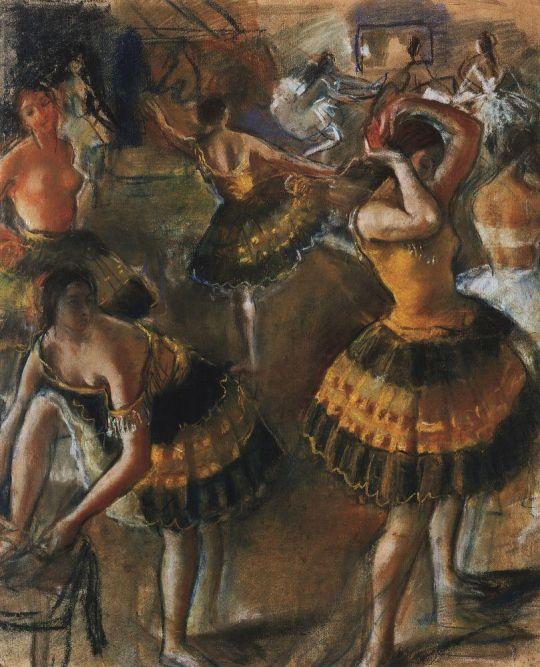 Балерины в уборной.