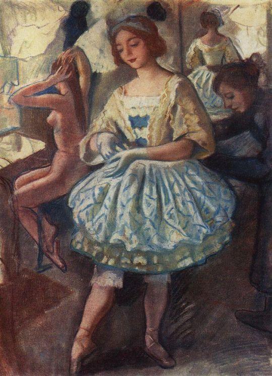 Портрет балерины Е.А.Свекис в костюме для балета Фея кукол.