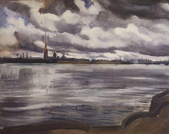 Вид на Петропавловскую крепость.