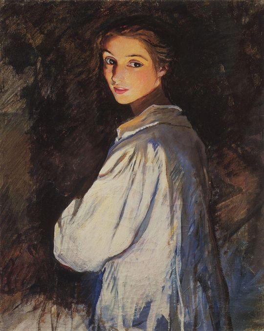 Девушка со свечой. Автопортрет.