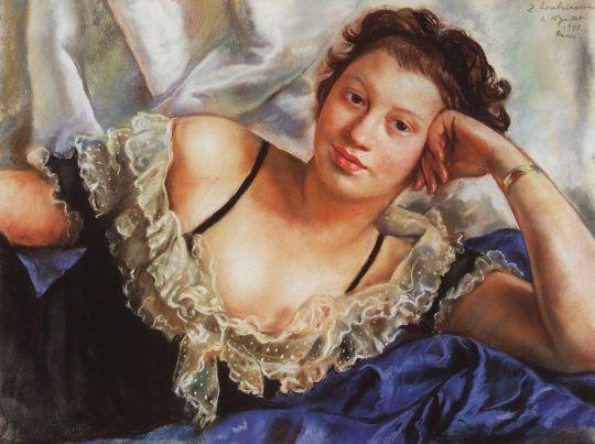 Портрет Б.Е.Поповой.