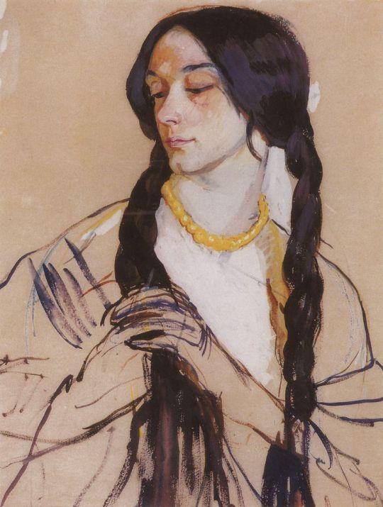 Портрет О.К.Лансере.