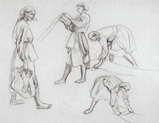 Четыре женских фигуры.