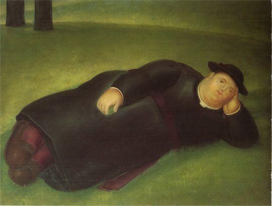 Лежащий священник
