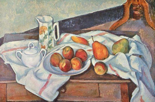 Натюрморт с персиками и грушами