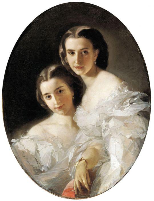 Портрет Ольги и Варвары Араповых. Вторая половина XIX века
