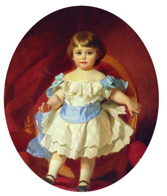 Портрет графини М.С. Шереметевой в детстве (в замужестве Гудович). 1880-е