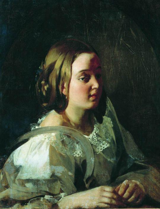 Девушка с серпом