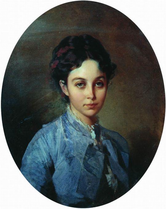 Портрет Вишнюковой. 1850-е