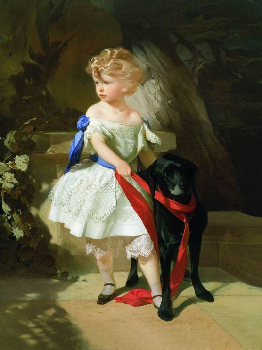 Девочка с собакой. 1860-е