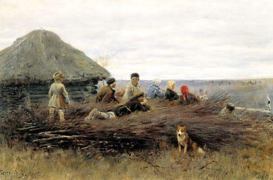 Дети на хворосте. 1899