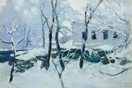 Зима. Иней. 1900-1910