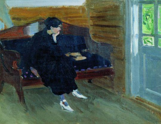 Женщина на диване. 1912