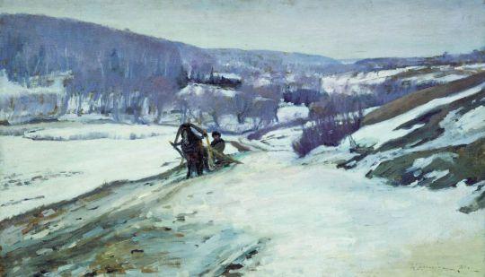 Зимний пейзаж2. 1910