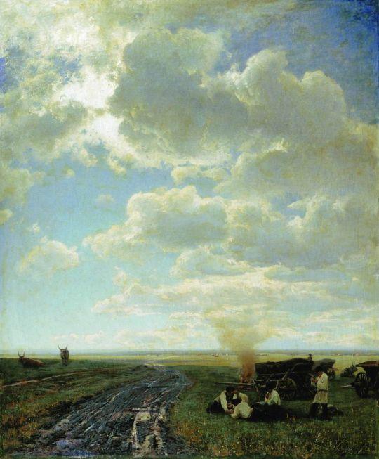 Отдых в степи. 1884