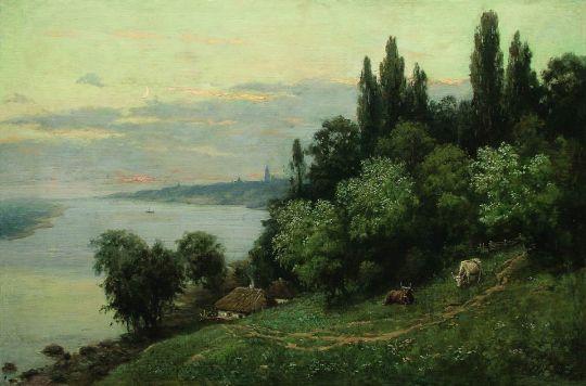 Закат над рекой. 1890