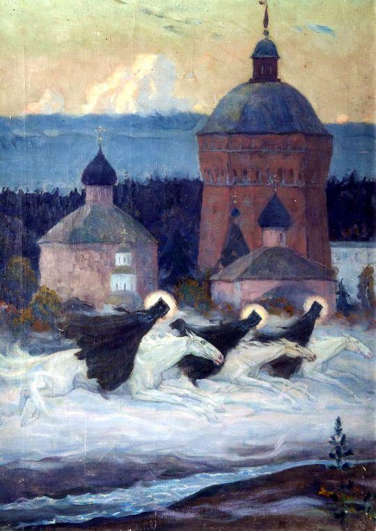 Три всадника (Легенда). Эпизод из истории осады Троице-Сергиевой лавры. 1932