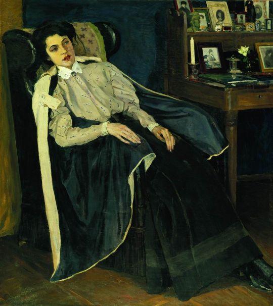 Портрет О.М.Нестеровой, дочери художника. 1905