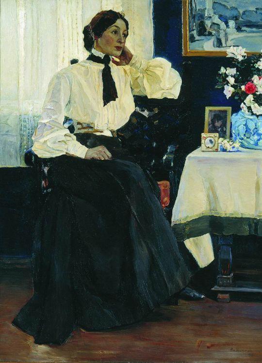 Портрет жены, Е.П.Нестеровой. 1905