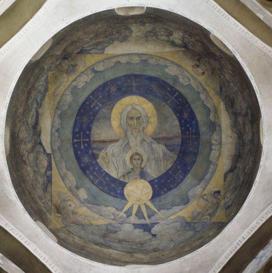 Саваоф с Младенцем иисусом и Духом Святым (Отечество). 1910-1911