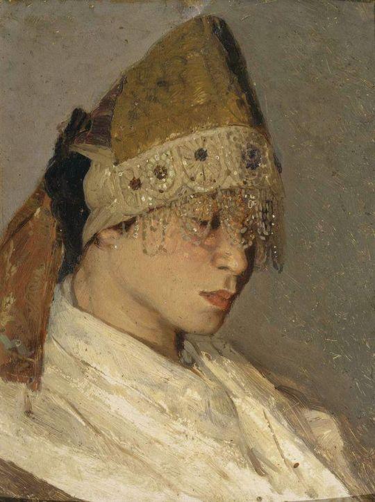 Девушка в кокошнике. Портрет М.И.Нестеровой. 1885