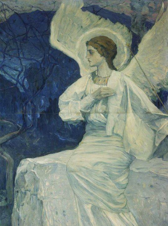 Ангел, сидящий на гробе. 1908-1911