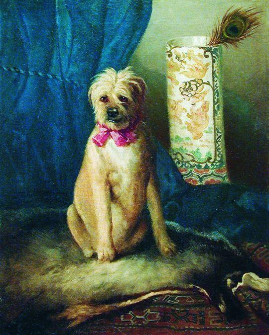 Собака с бантиком