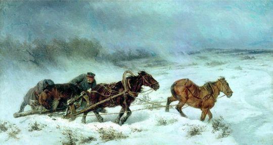 Охота на медведя. 1885
